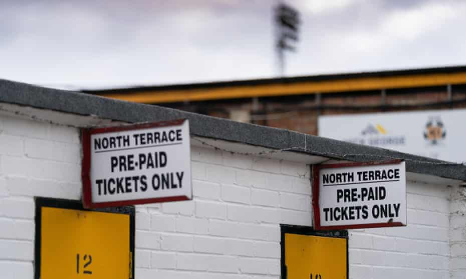 A lot of football grounds, such as Abbey Stadium in Cambridge, will be empty for some time.