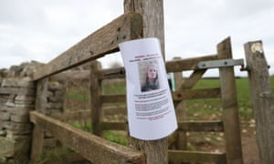 A missing persons poster for Gaia Pope is pinned near Chapman's Pool in Dorset.