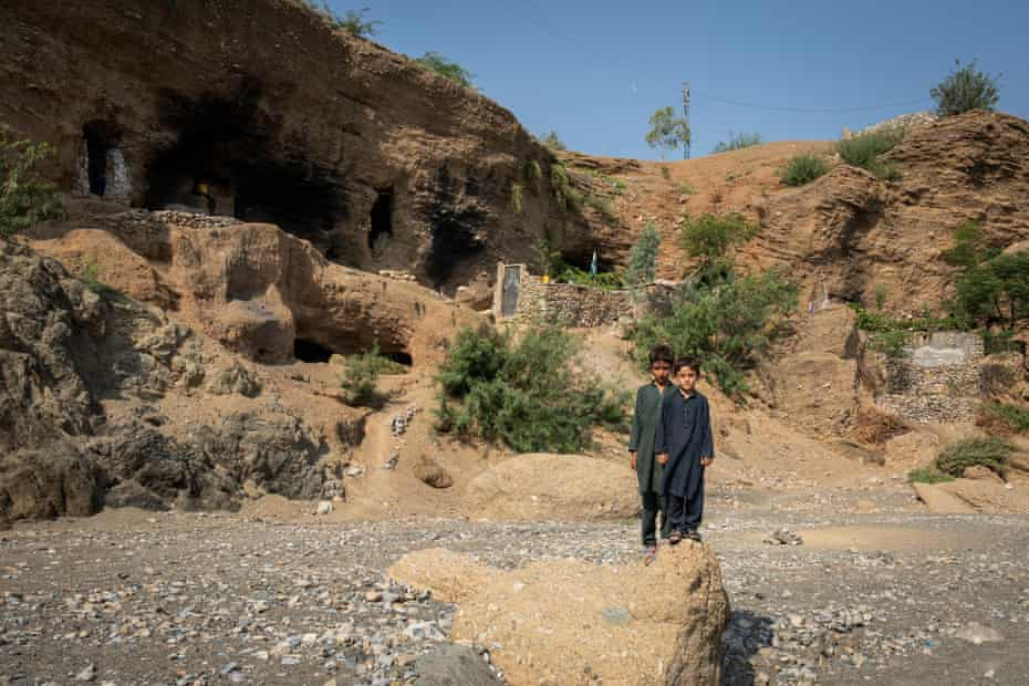 The cave complex in Charwazgi Mulankali that has been home to scores of families for seven years