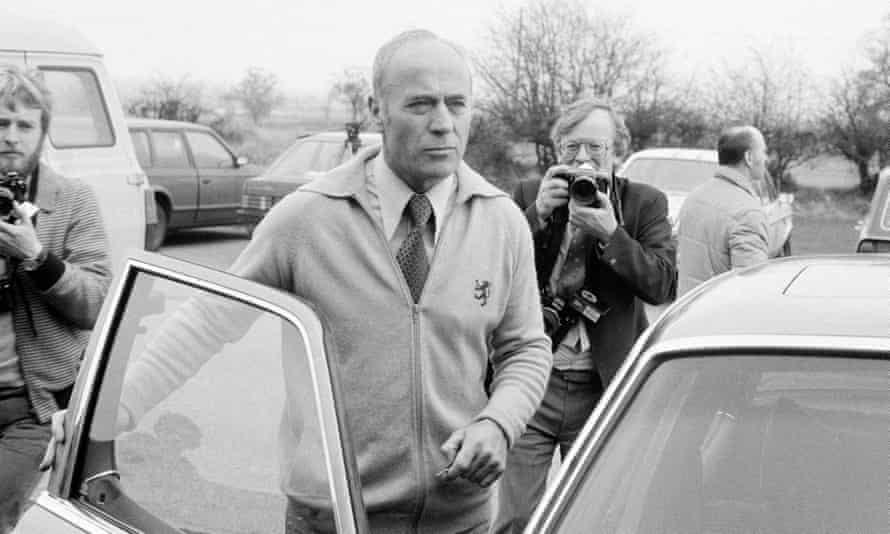 Ron Saunders leaves the Aston Villa training ground, Bodymoor Heath, after resigning as team manager.