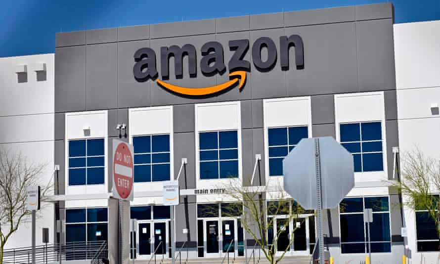 An Amazon distribution centre in the US
