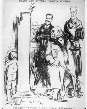 Will Dyson's 1920 cartoon Peace and Future Cannon Fodder.