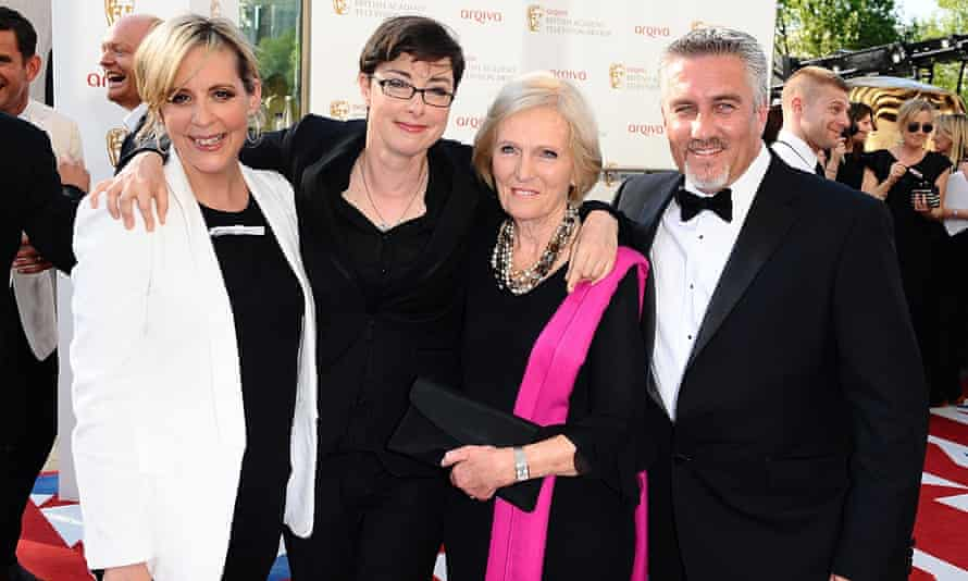 The BBC's Bake Off presenters and judges Mel Giedroyc, Sue Perkins, Mary Berry and Paul Hollywood.