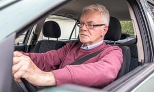 An older driver
