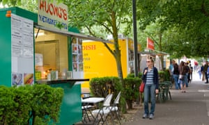 Portland Oregon is renowned for its many food carts