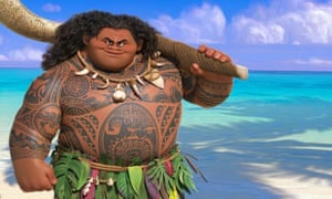 The depiction of Maui in the film has been described as 'half pig, half hippo'.