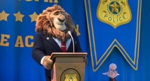Mayor Lionheart (JK Simmons) and Assistant Mayor Bellwether (Jenny Slate).