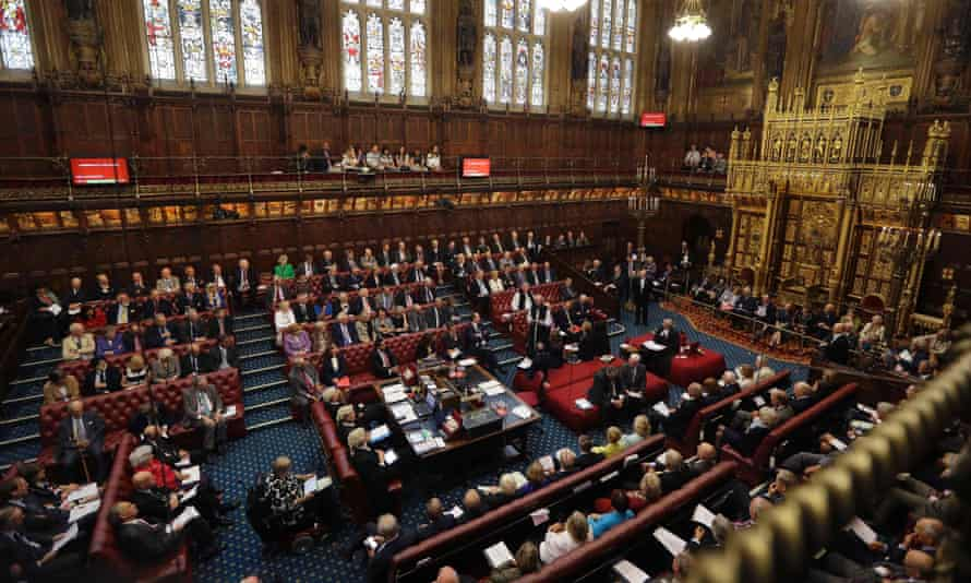 A debate inside the House of Lords