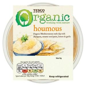 Tesco Organic Houmous, 200g, £1.10