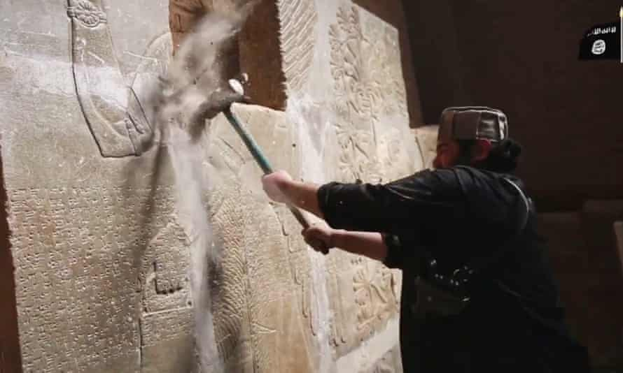 An Islamic State video purportedly showing the destruction of Nimrud