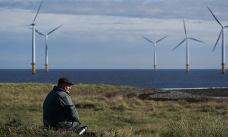 The EDF energy offshore wind farm near Redcar, North Yorkshire.