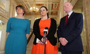 Arlene Foster, Martin McGuinness, Claire Sugden