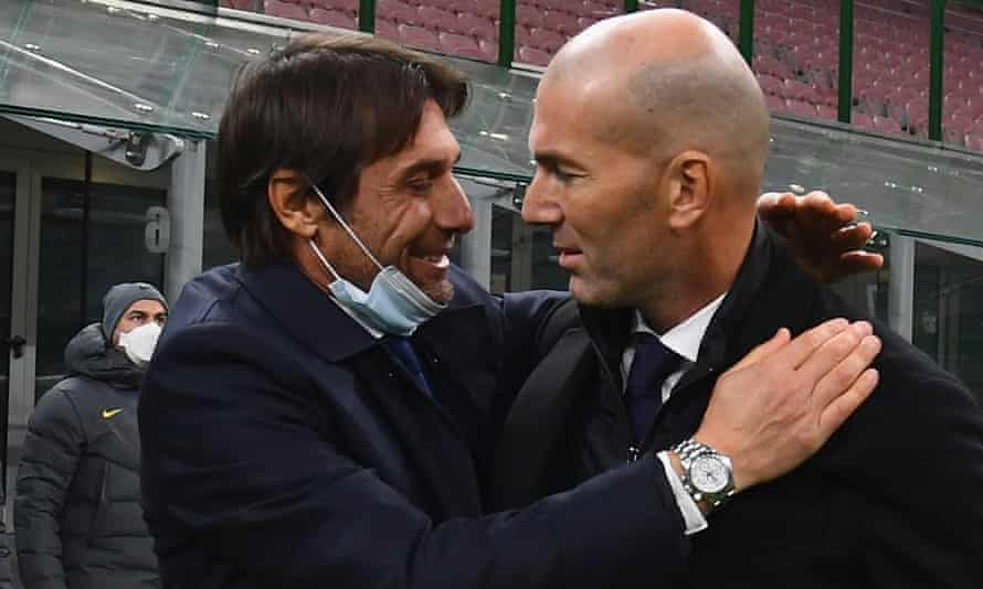 Club finances at Internazionale and Real Madrid left Antonio Conte and Zinedine Zidane struggling to rebuild.