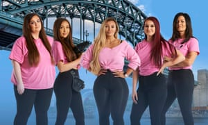 The angels of the north: Ashleigh, Saffron, SammyJo, Lauren and Bev.