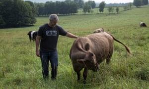 Mike Salguero, founder of ButcherBox, in field.