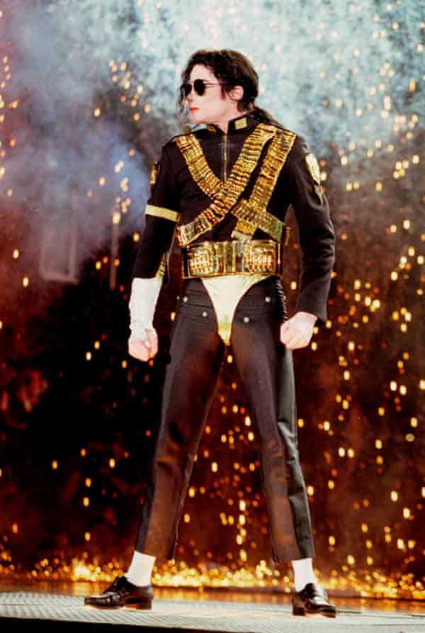 Michael Jackson performing on stage in 1992