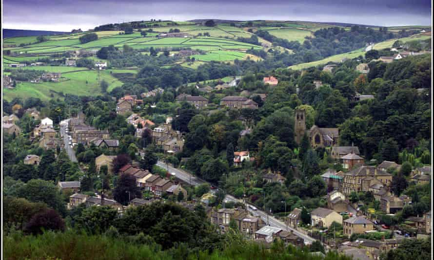 View of Holmfirth, West Yorkshire