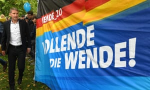 'Vollende die Wende', the AfD's election slogan, means 'Complete the transition'.