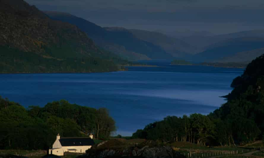 Loch Maree in the northwest Highlands … a Scottish loch provides the setting for Michael Ridpath's Amnesia. Photograph: Alamy
