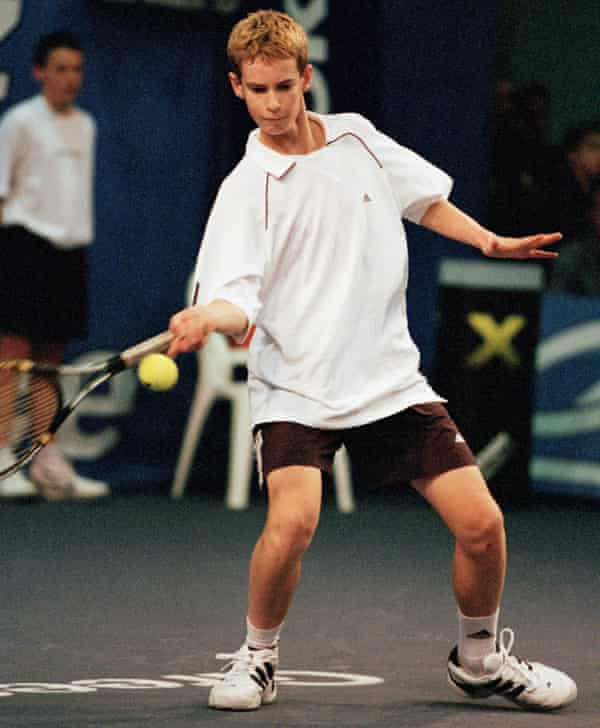 Andy Murray from Great Britain during the 2001 Les Petits As Tournament.