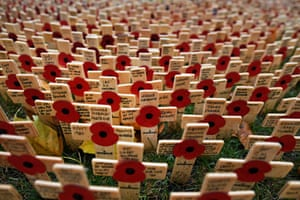 Crosses at the Field of Remembrance, Westminster Abbey