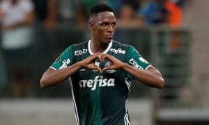 Barcelona sign colombia centre back yerry mina from palmeiras for yerry mina stopboris Gallery