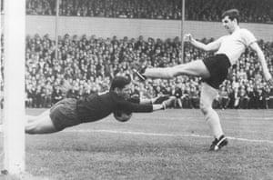 Lothar Emmerich in action of Borussia Dortmund in the 1965-66 season.