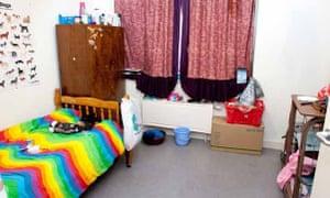 Morgan-Davies' bedroom at the collective
