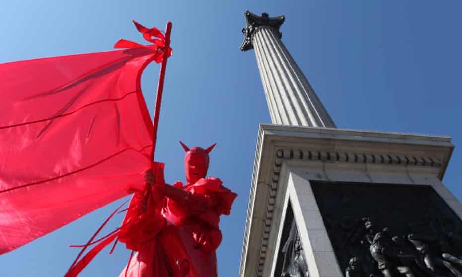 Izzy Yon's Monument Walk I at Trafalgar Square, part of the Galatea programme.
