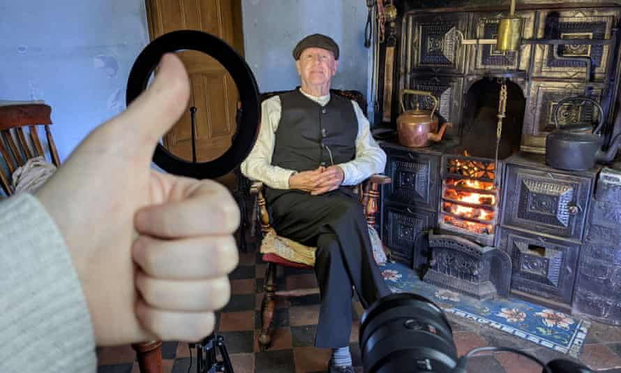 Filming of '1920s grandad', which has been view more than 2.2m times.