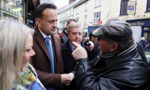 Leo Varadkar is confronted in Ennis, County Clare
