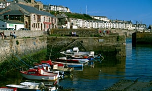 Porthleven in Cornwall during the August heatwave of 1990.