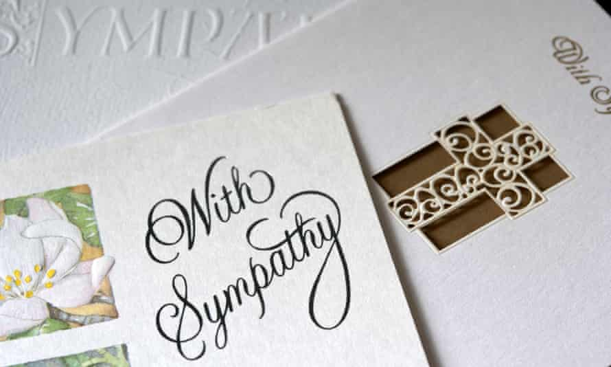 Sympathy cards as used after a family bereavement