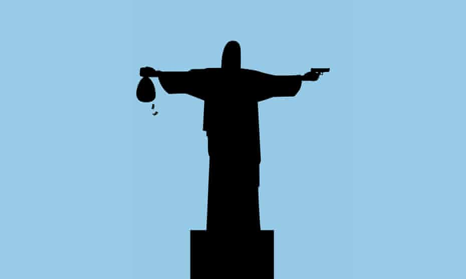 illustration for story about corruption in brazil