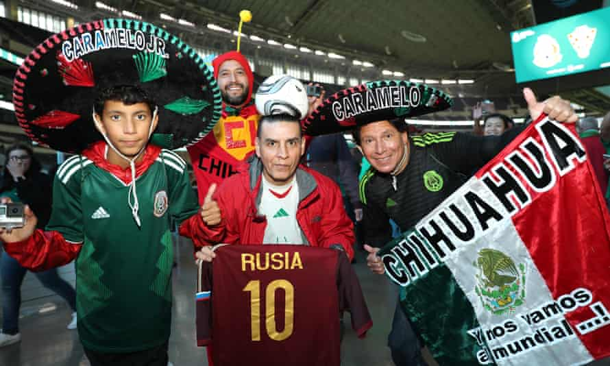 Fans at a Mexico game in Arlington, Texas. El Tri regularly play games in the US