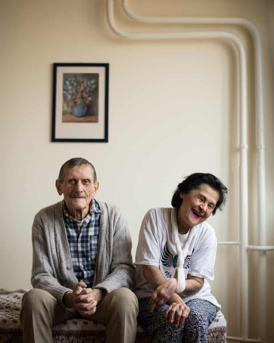 Stjepan Getto, 83, with Jelica Getto, 61, in the home they share