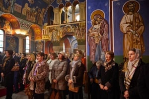 A Christmas service at the Serbian Orthodox Church of the Holy Prince Lazar in Birmingham, UK