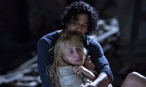 Naveen Andrews and Daryl Hannah in Sense8.