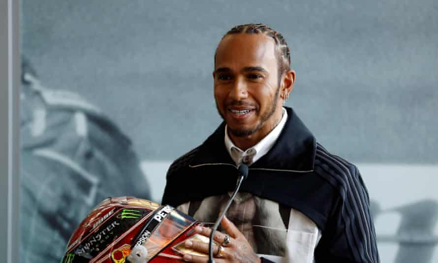 Lewis Hamilton at the Silverstone circuit on Friday
