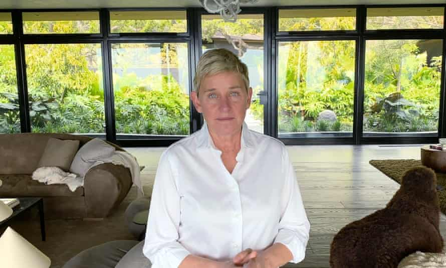 DeGeneres at home in Los Angeles during the Covid-19 lockdown in March
