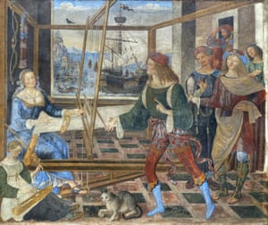 Penelope with the Suitors, about 1509, by Pinturicchio.
