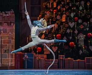 Tomas Mock (Mouse King) in The Nutcracker by The Royal Ballet at the Royal Opera House