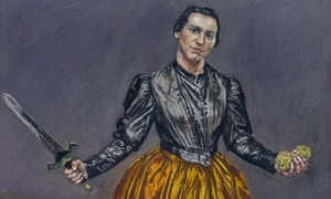 Threatened violence … detail of Angel, from the retrospective Paula Rego: Obedience and Defiance.