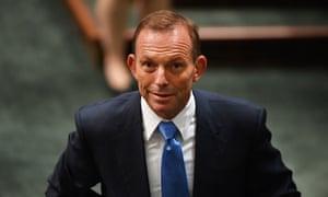Former prime minister Tony Abbott in the House of Representatives