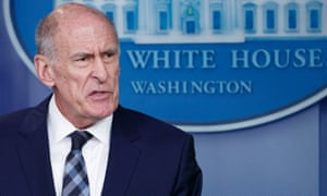 National intelligence director Dan Coats at a daily briefing at the White House on 2 August.