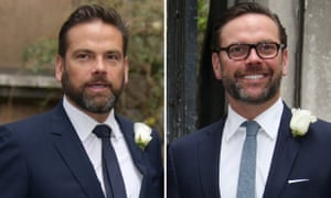 Lachlan, left, and James Murdoch looked at one stage like rivals for their father's throne.