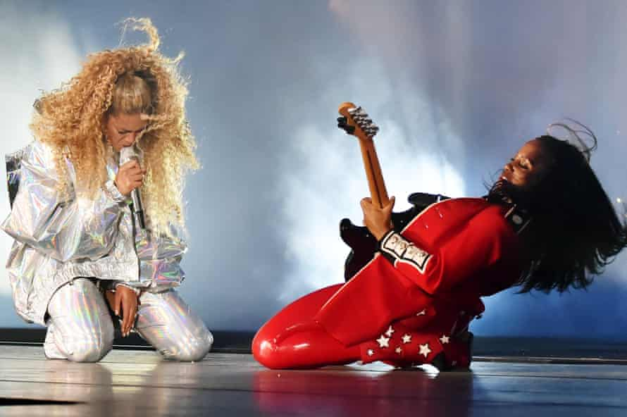 Crazed lust to romantic betrayal ... Beyonce rocks out.