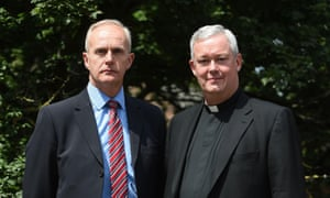 Canon Jeremy Pemberton (right) with his husband, Laurence Cunnington.
