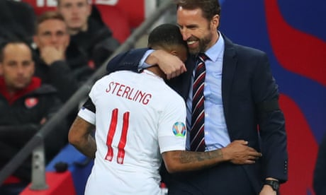 'Devastating' Sterling has become England leader, says Southgate – video