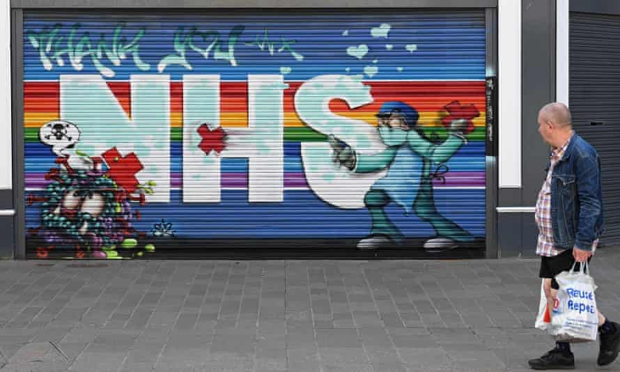 'Thank you NHS' street art in Hull.